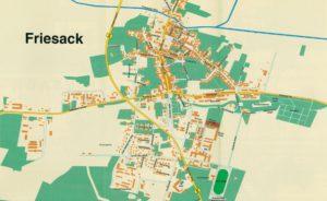 Friesack Karte